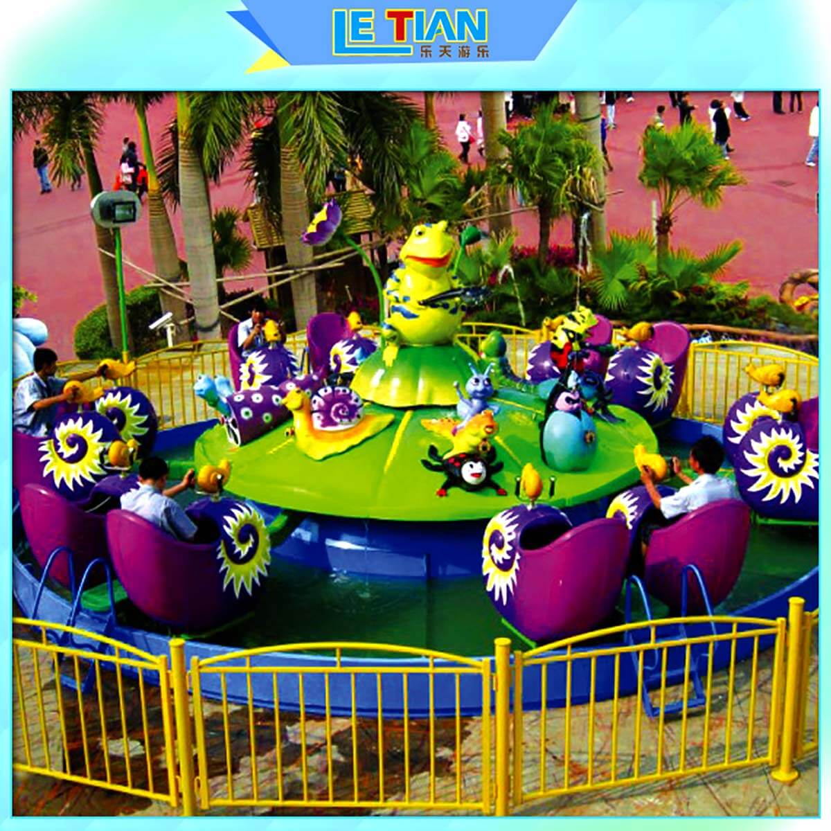 LETIAN rotating ride cup factory playground-4