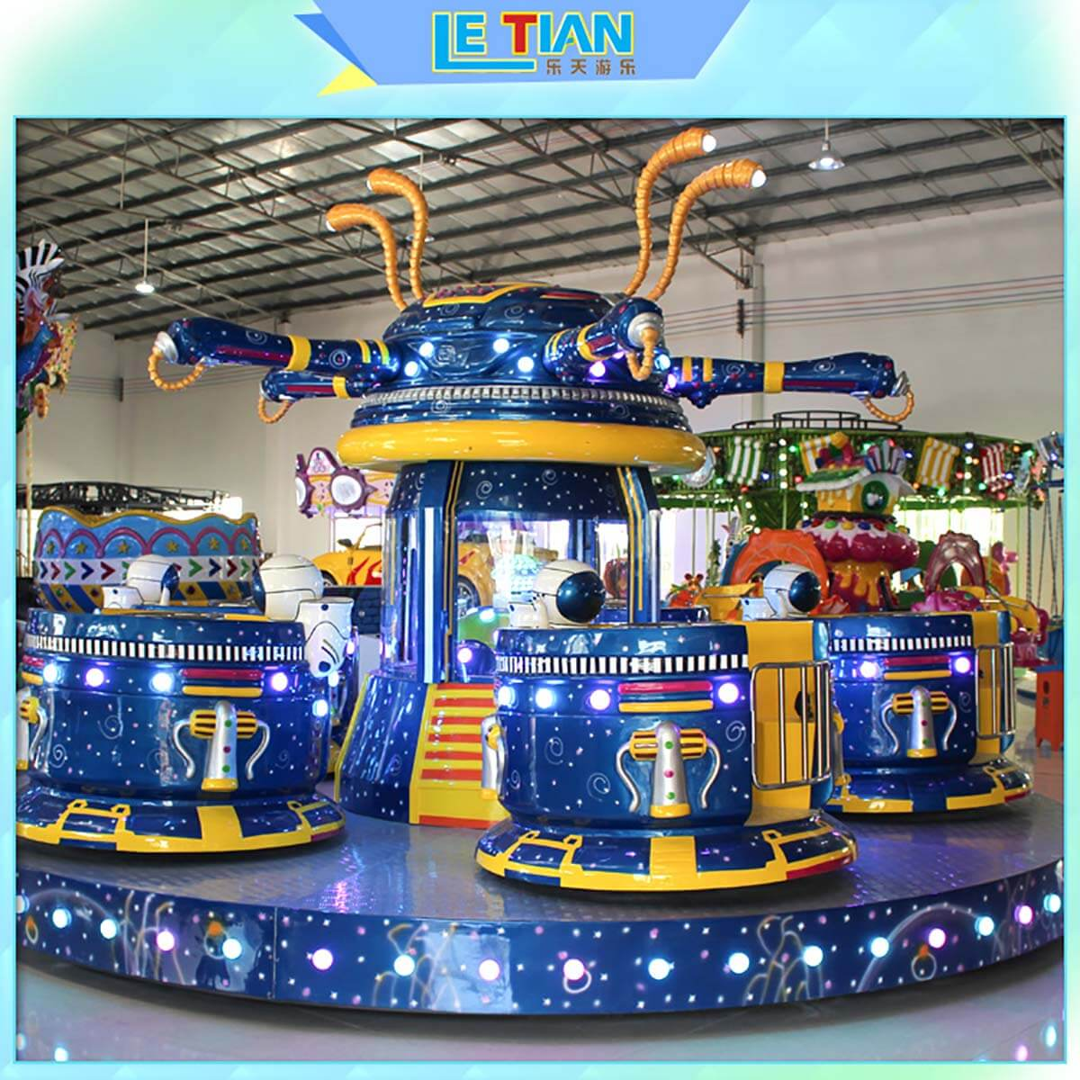 LETIAN rotating cup ride facility amusement park-2