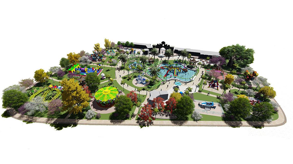 Amusement park Whole site planning and design