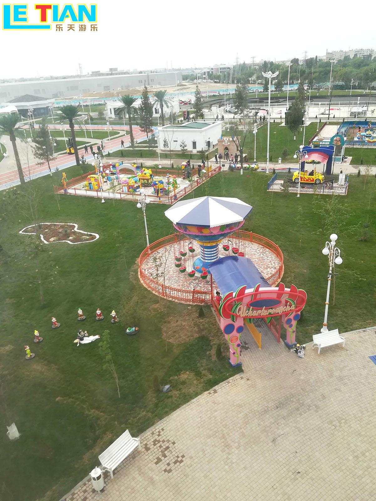 The amusement park in Uzbekistan