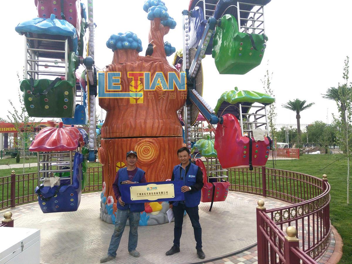 The Ferris wheel for the amusement park in Uzbekistan