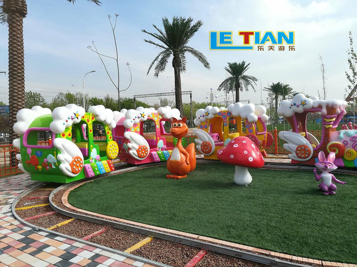 The Small track train playground equipment
