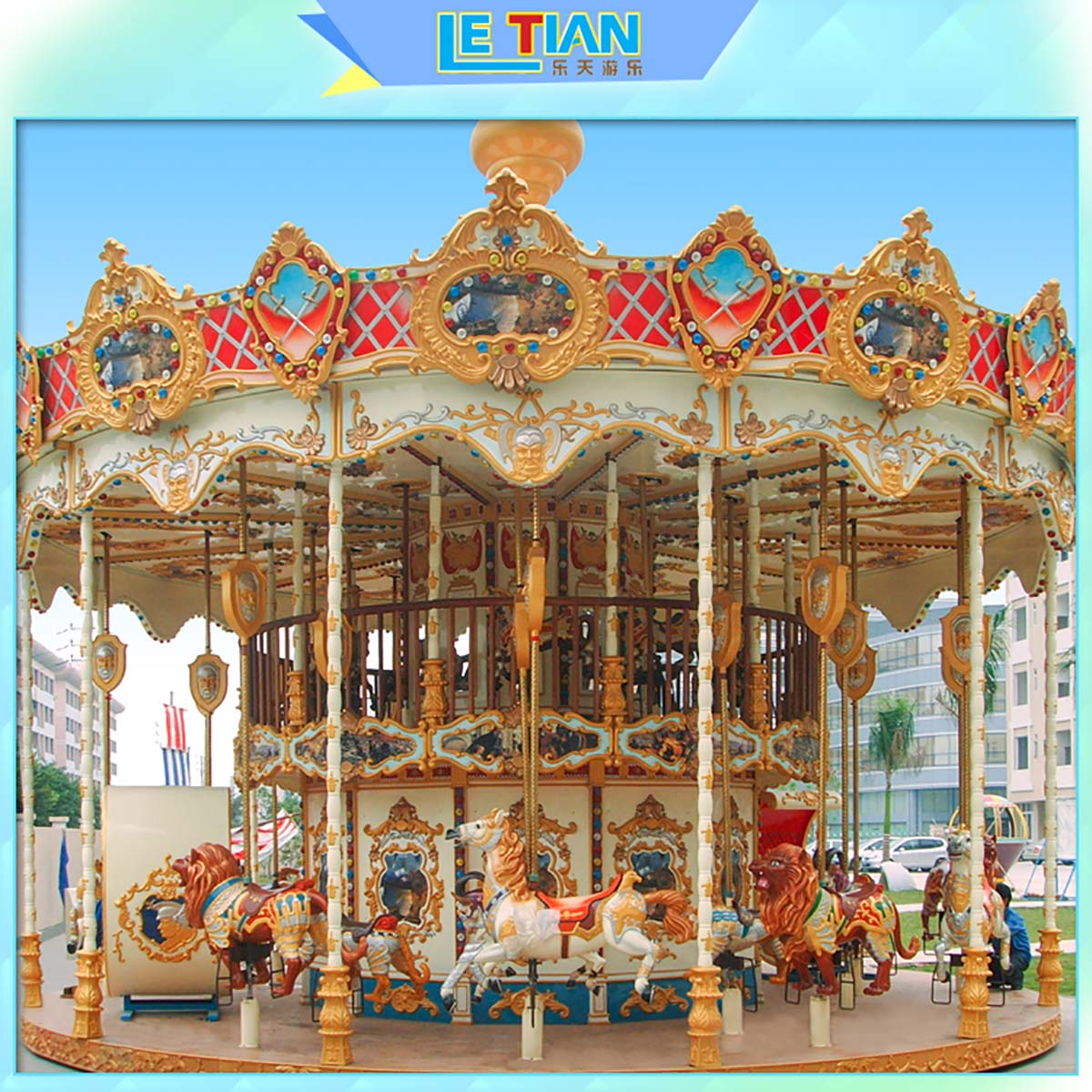 LETIAN Wholesale carousel ride Suppliers shopping centers-2