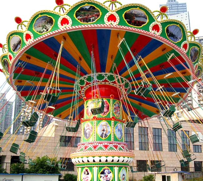 LETIAN fashionable chair swing ride customized theme park-4