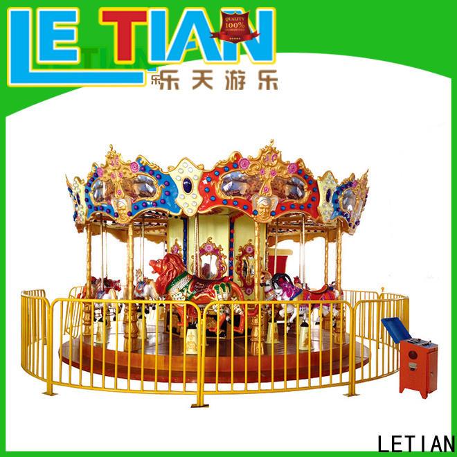 LETIAN Wholesale carousel horse supplier carnival