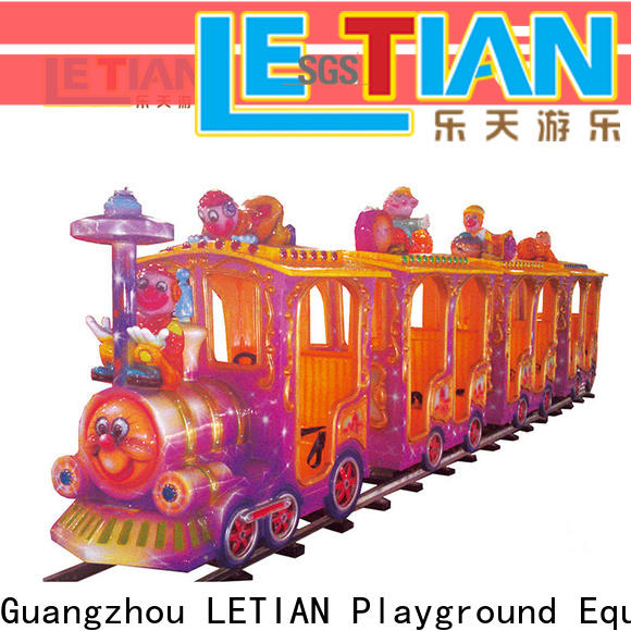 LETIAN New Kids Train factory park playground