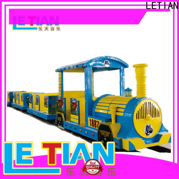 LETIAN High-quality train theme park for sale park playground