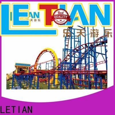 LETIAN rotating steel roller coaster for business carnival