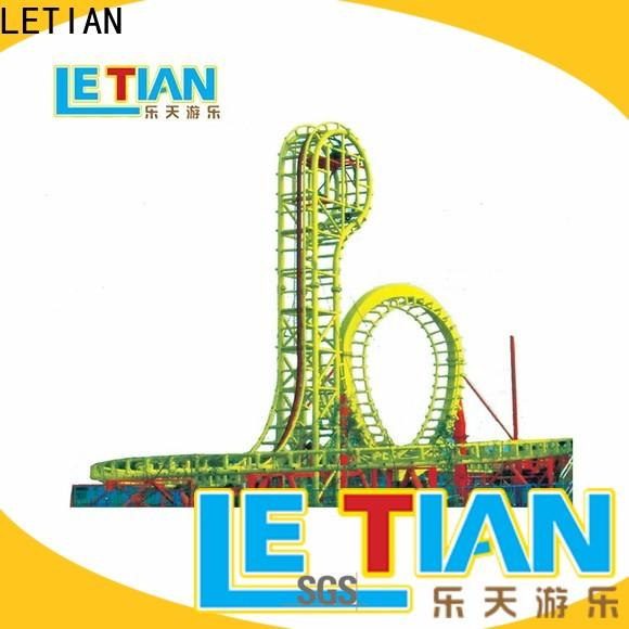 LETIAN rotating free roller coaster building games attracts tourists playground