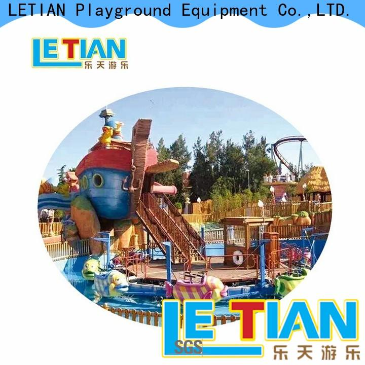 LETIAN Factory made make a roller coaster game and ride it for kids playground