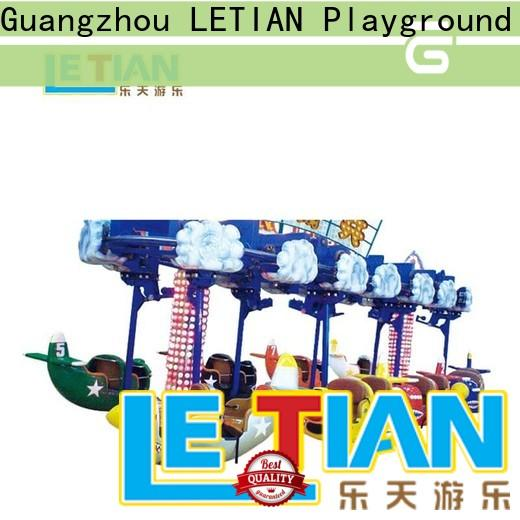 LETIAN swing kids pirate ship for children carnival