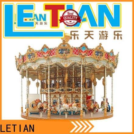 LETIAN lt7030a childrens carousel for kids fairground