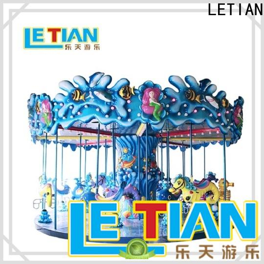 LETIAN colorful small carousel for sale company shopping centers