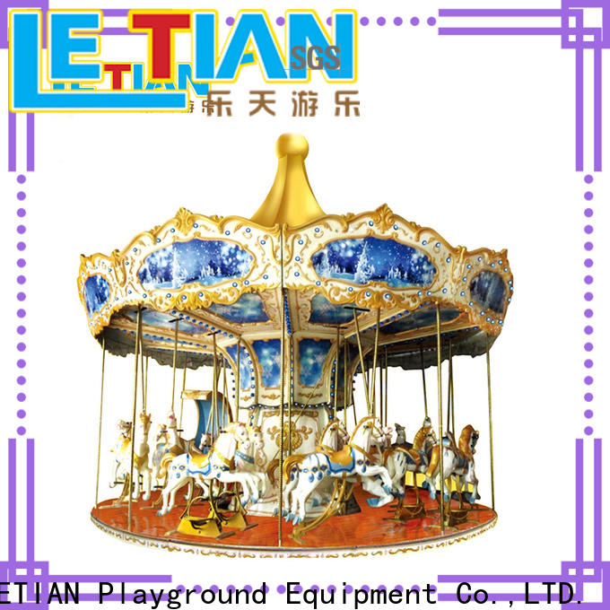 LETIAN amusement ride on carousel manufacturers carnival