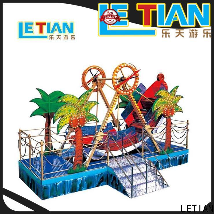 LETIAN sliding pirate boat ride tourists mall