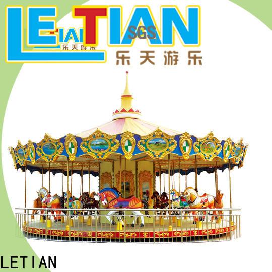LETIAN funfair carousel for kids company theme park