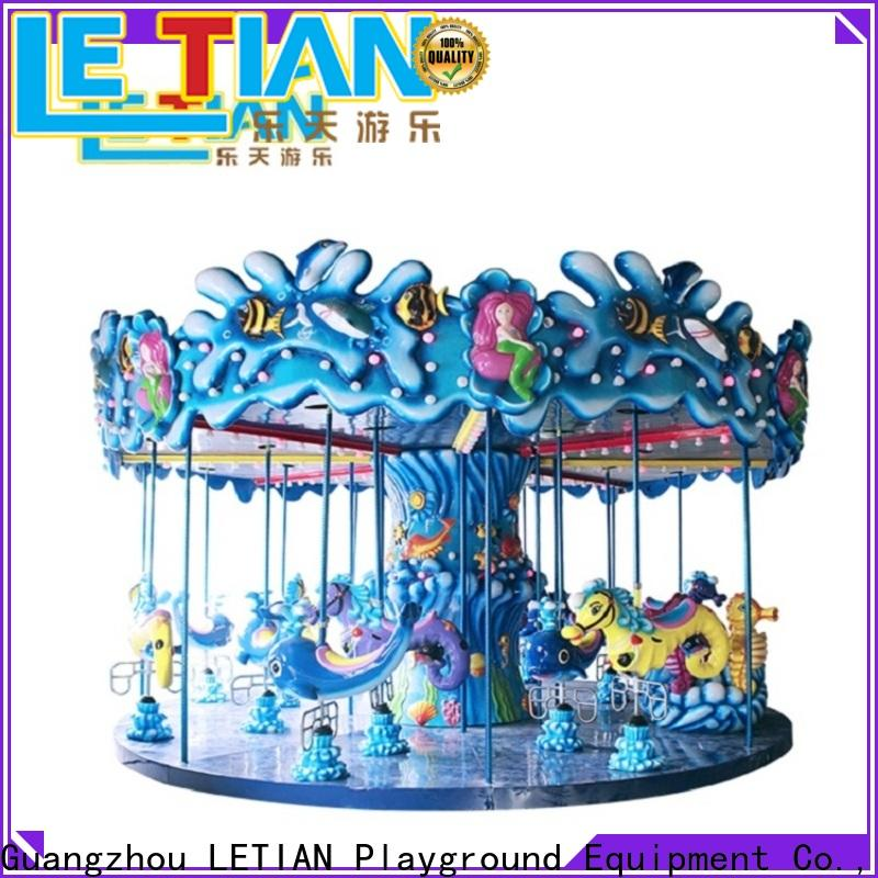 LETIAN Top kids carousel factory theme park