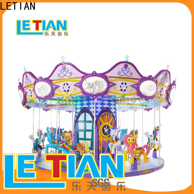 LETIAN Latest carousel horse for business shopping centers