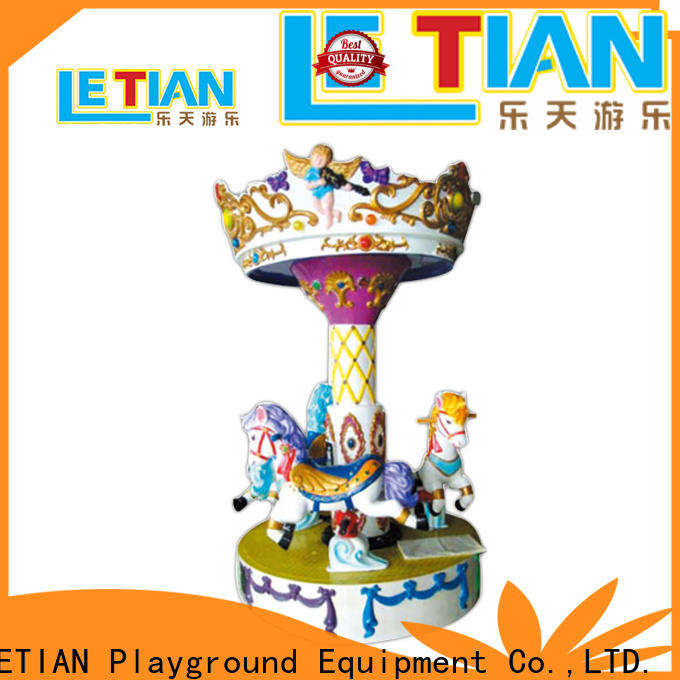 LETIAN kiddie mini carousel ride for sale for business carnival