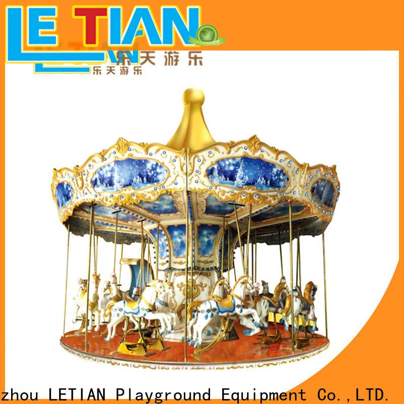 LETIAN Wholesale carousel kids design fairground