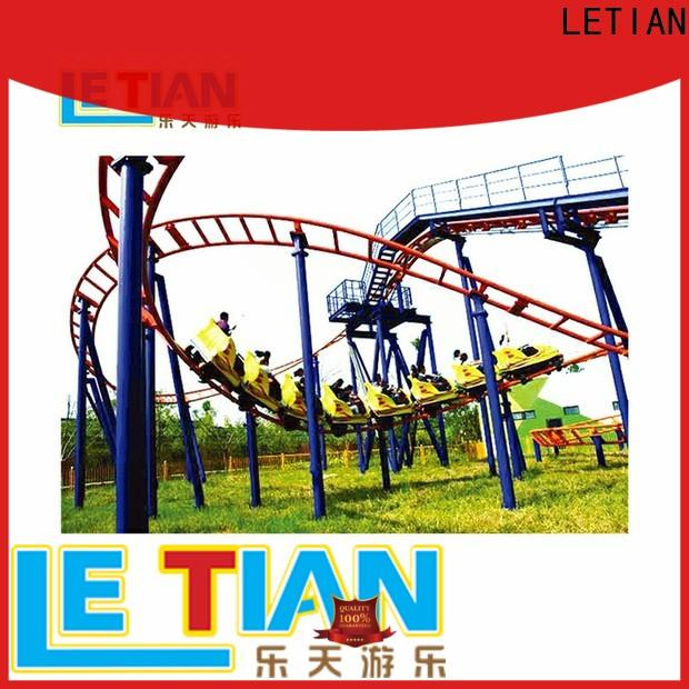 LETIAN Top people riding roller coaster for kids playground