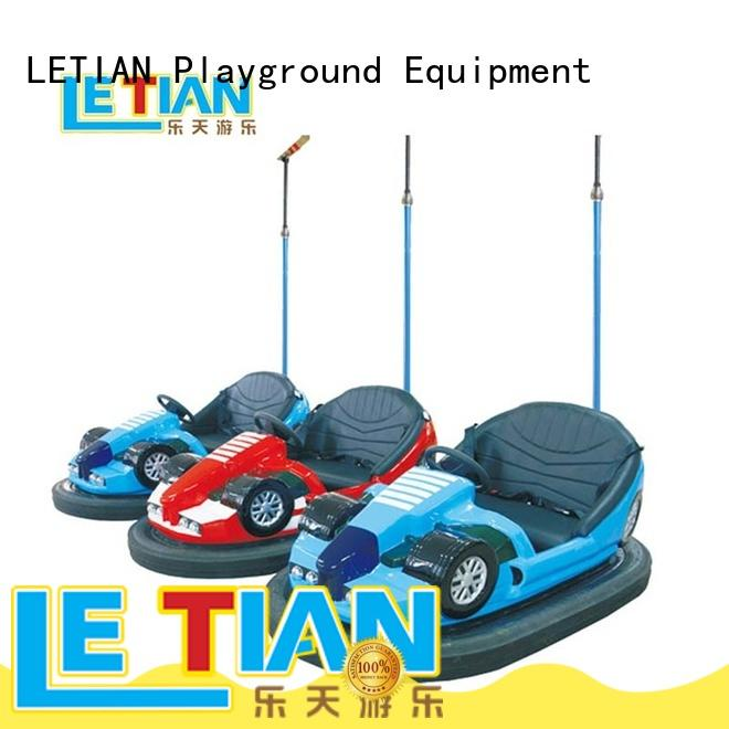 fashionable kids bumper cars ride with antenna park