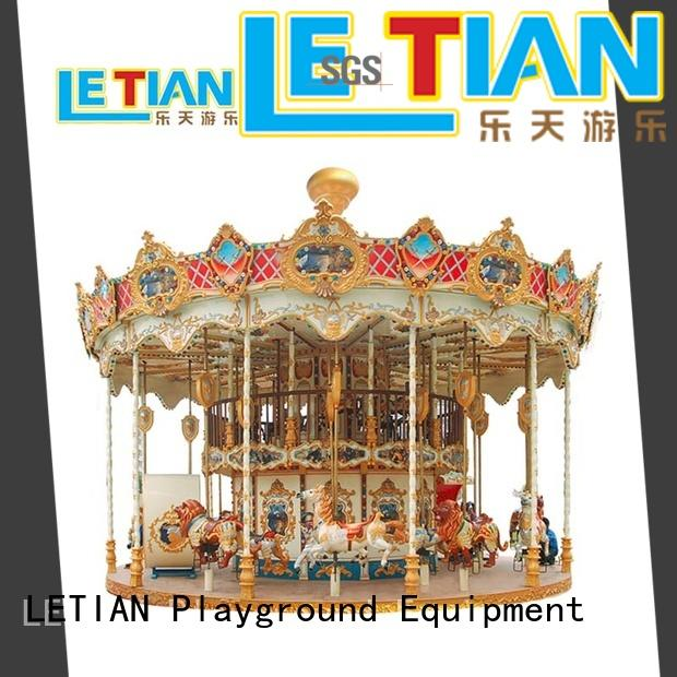 LETIAN durable carousel kids for kids shopping centers