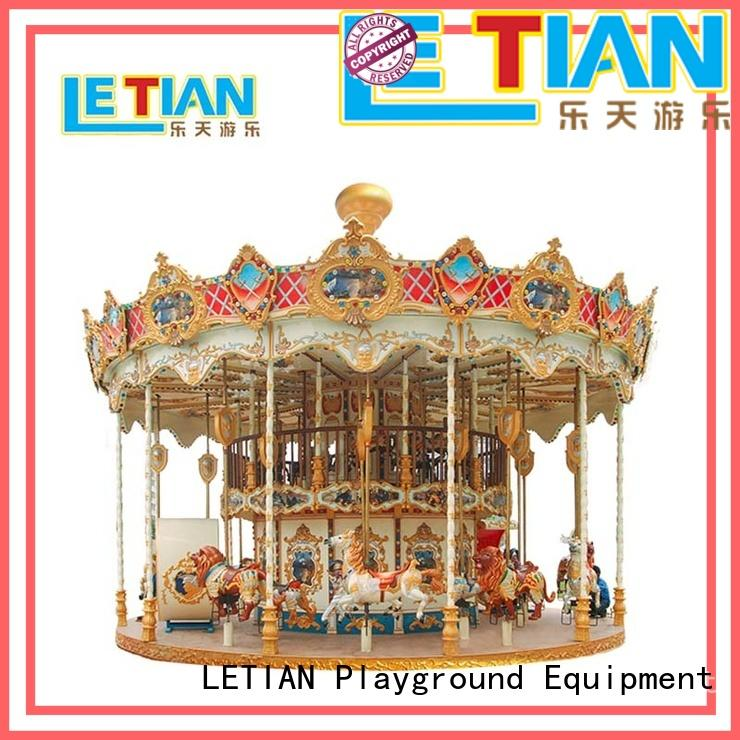 LETIAN colorful carousel horse customized carnival