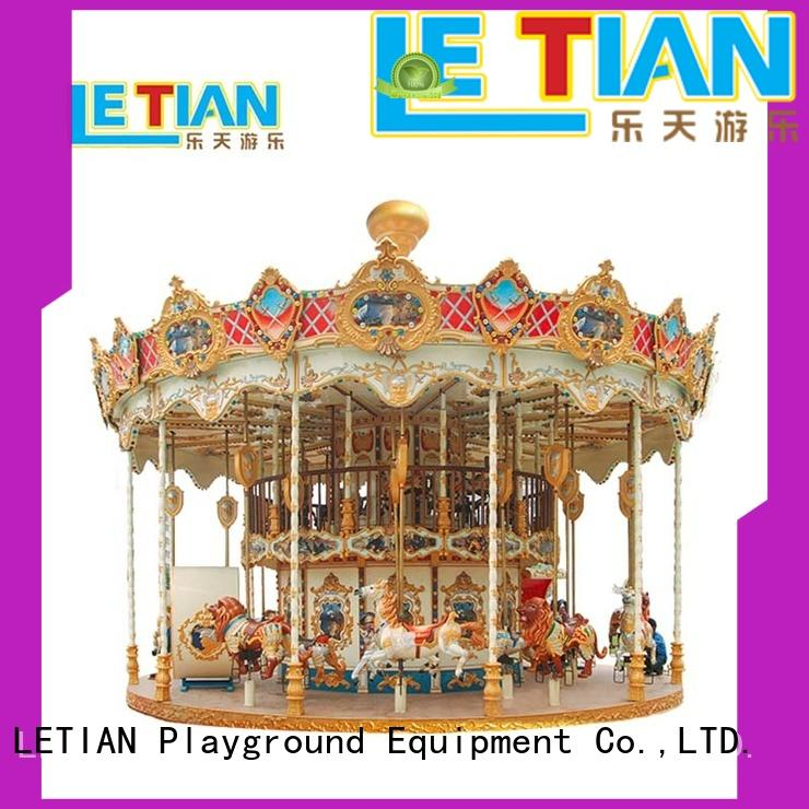 LETIAN kids small carousel for sale factory shopping centers