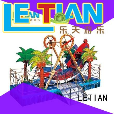 LETIAN interesting pirate ride for children theme park