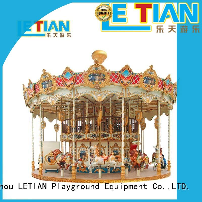 LETIAN Wholesale horse carousel ride supplier fairground