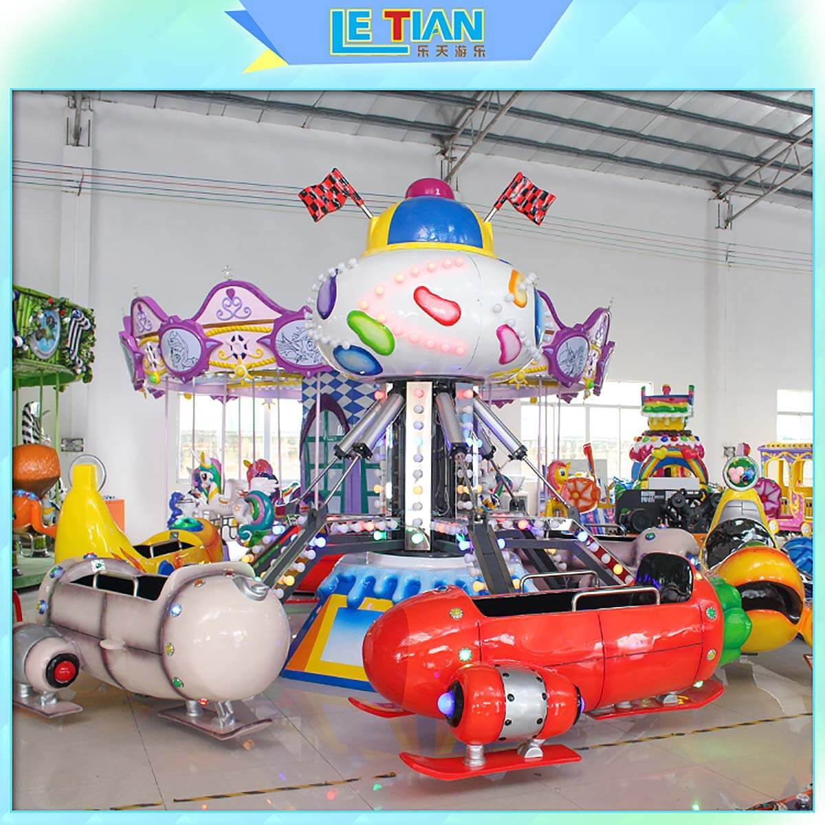 LETIAN rolling funfair rides for business children's palace-2
