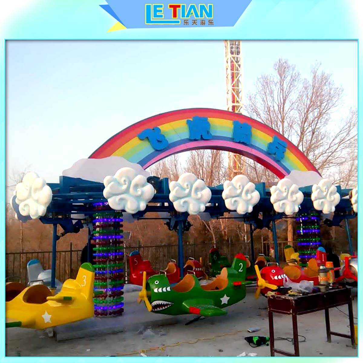 LETIAN outdoor pirate boat ride student mall-3