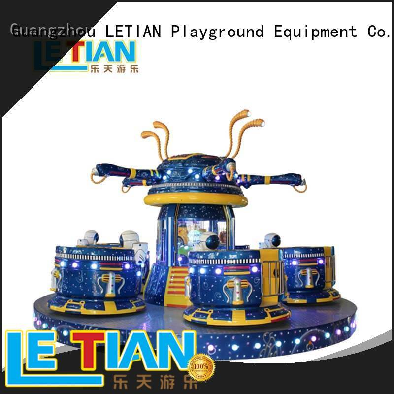 LETIAN rotating cup ride facility playground
