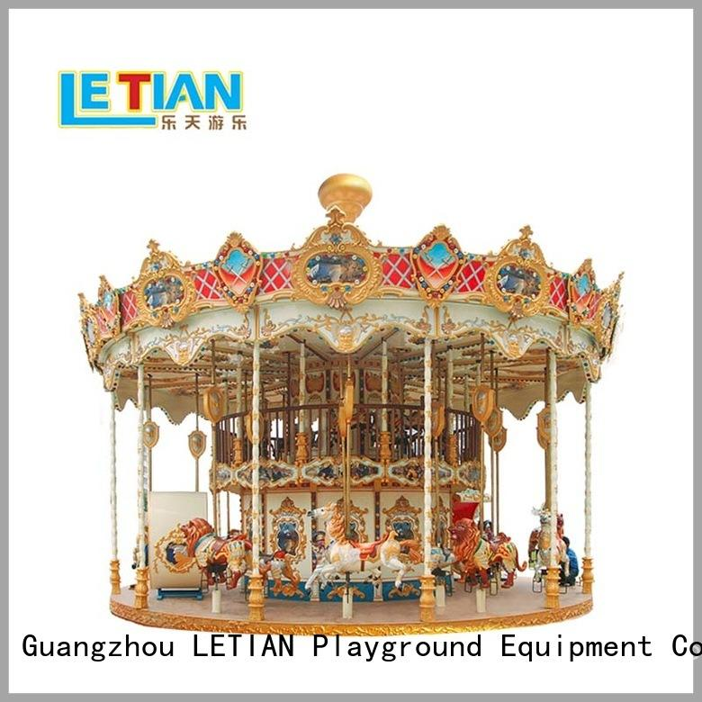 LETIAN equipment ride on carousel Suppliers carnival