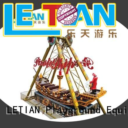 LETIAN fairground kids pirate ship student mall