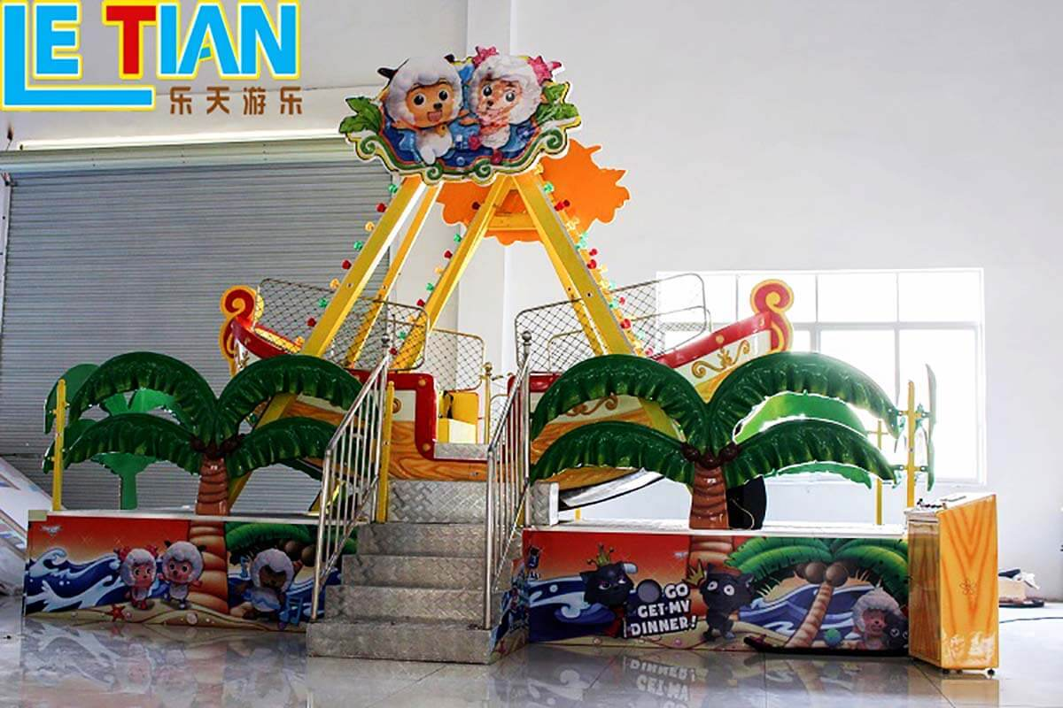 LETIAN interesting pirate ride for children theme park-3
