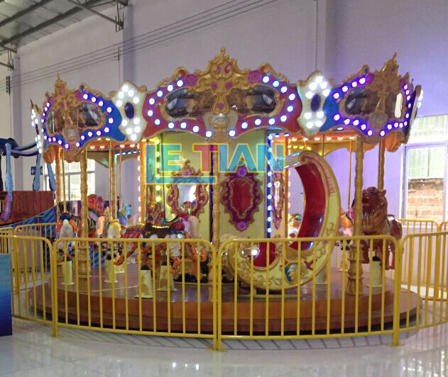 LETIAN New mini carousel ride for sale design fairground-3