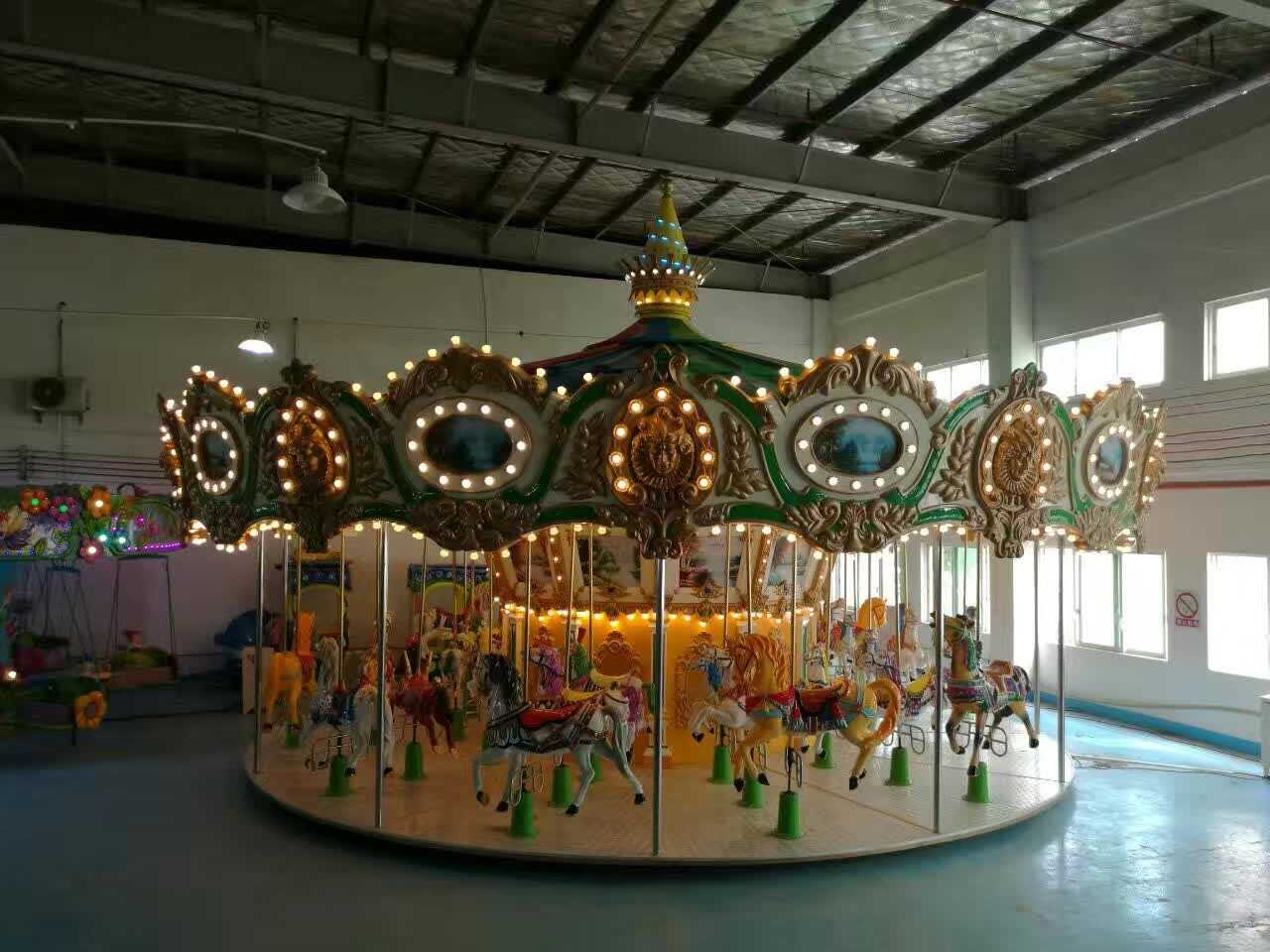 LETIAN 24 seats childrens carousel design shopping centers-4