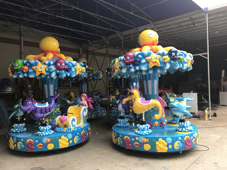 Top carousel for kids rides customized shopping centers-2