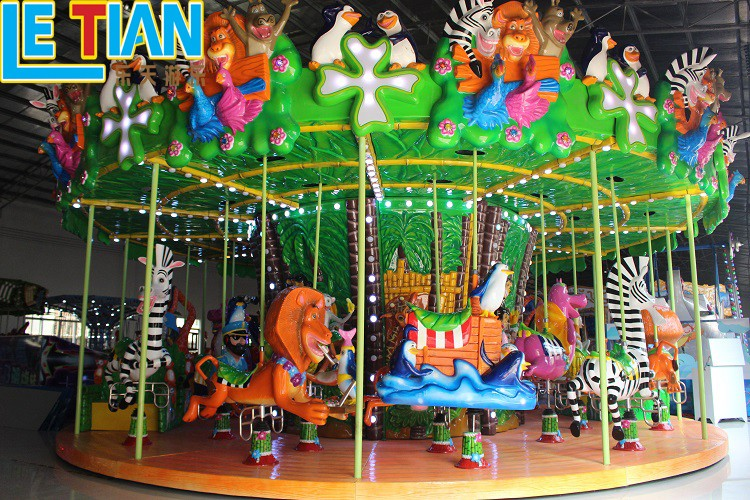 Custom carousel ride deck Supply fairground-3