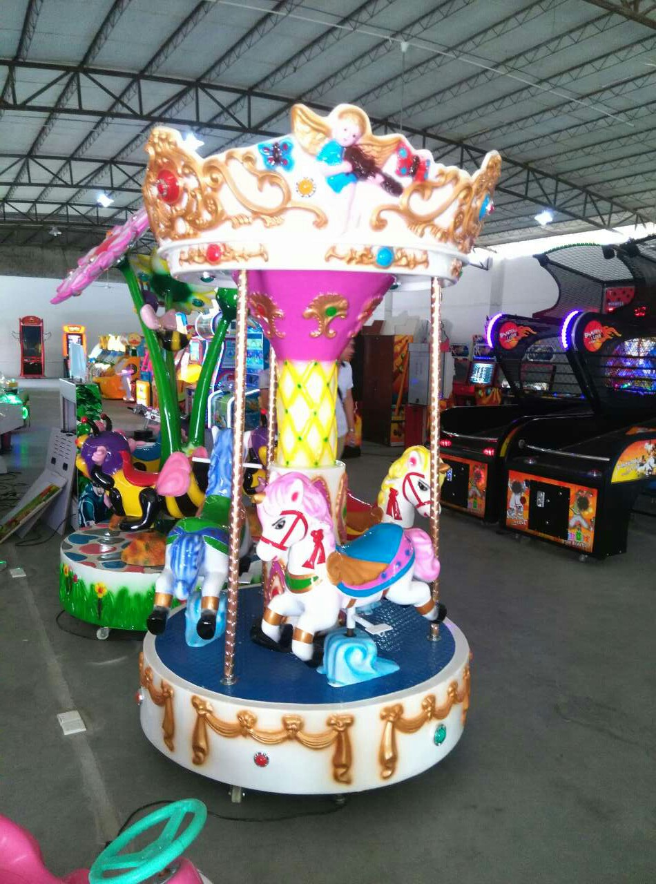 LETIAN kiddie mini carousel ride for sale for business carnival-3