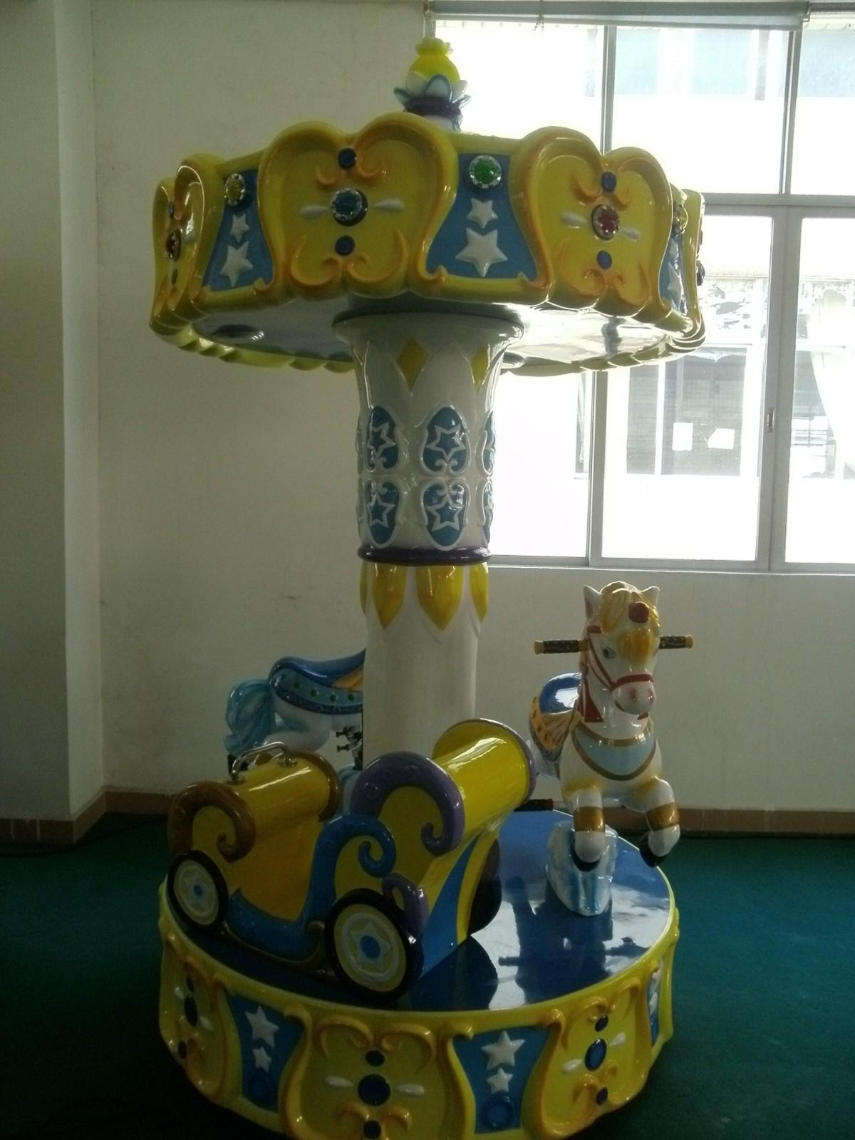 LETIAN horses carousel for kids design fairground