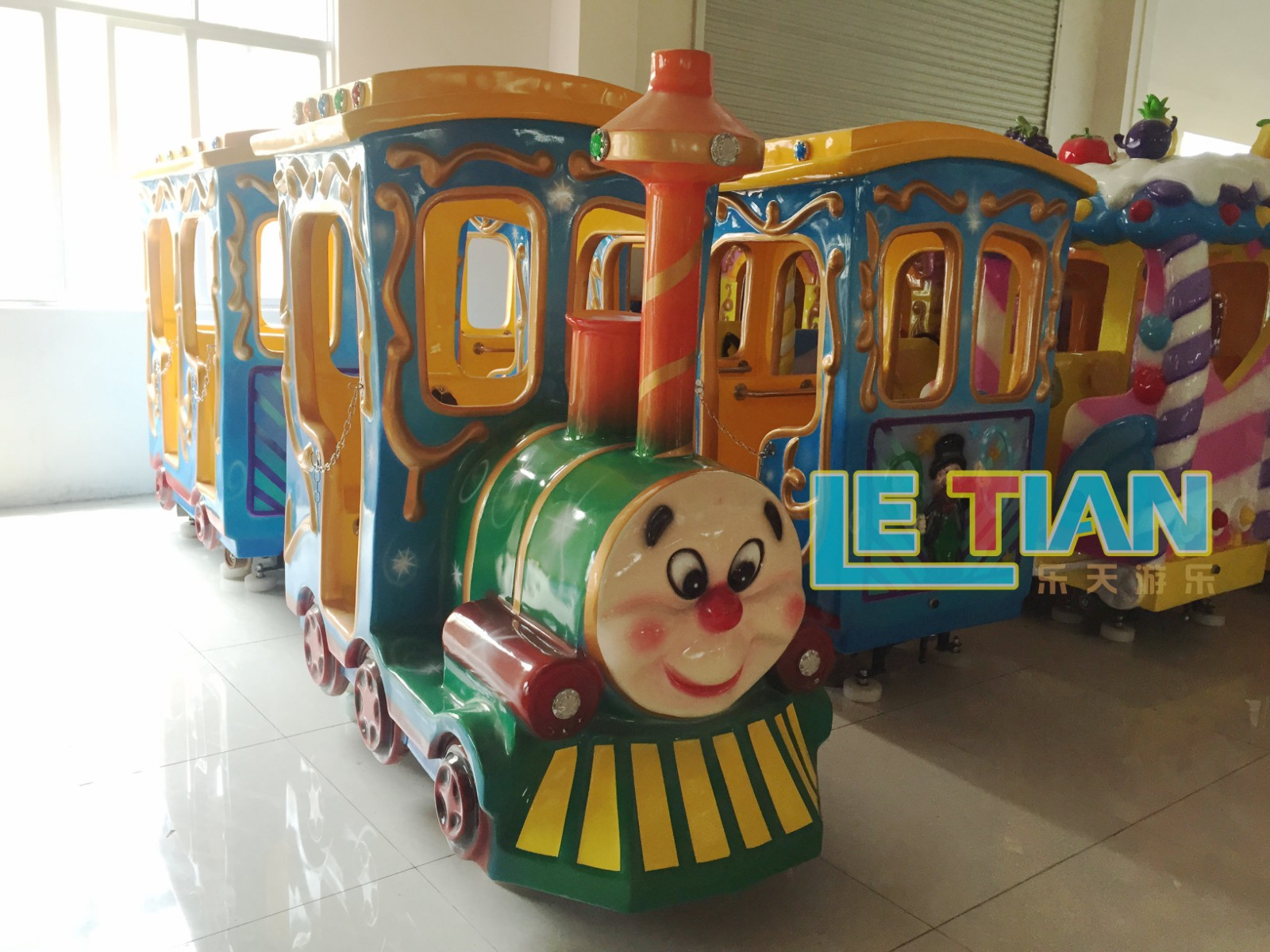 LETIAN style trackless train Supply park playground-3