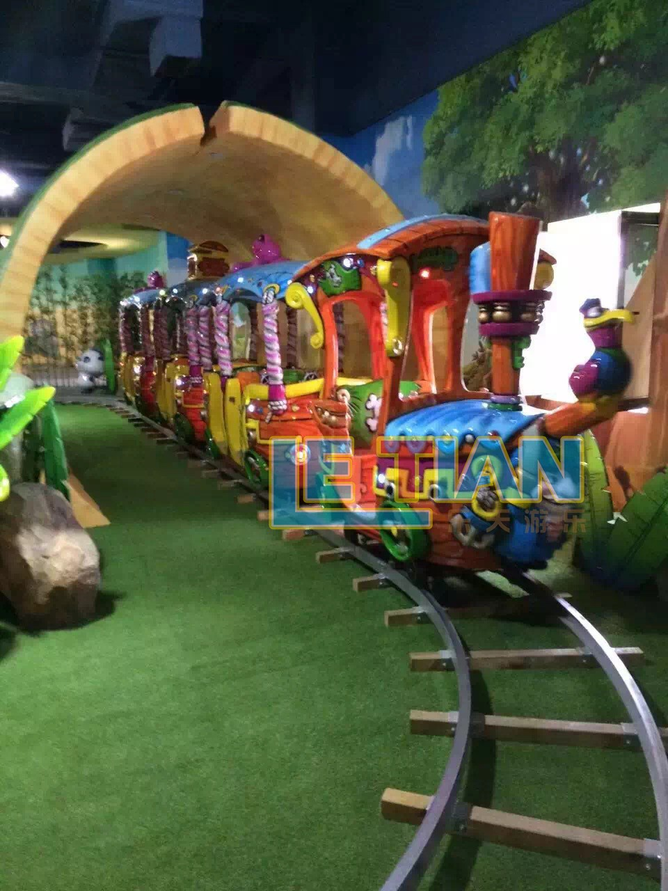 LETIAN small themed train rides company park playground-1