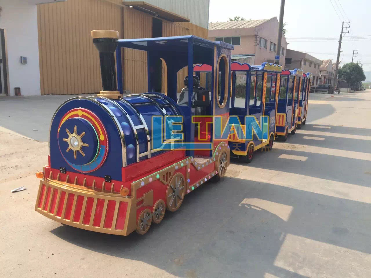 LETIAN jungle trackless train ride for business park playground-4