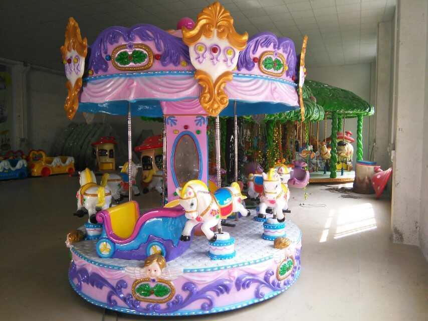 Kids 6 seats mini colorful Carousel ride for sale LT-7039D-2