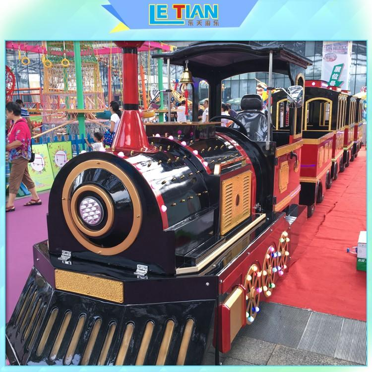 LETIAN jungle trackless train ride for business park playground-1