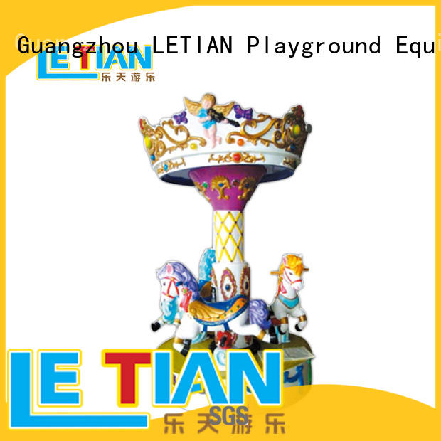 Outdoor 3 seats Mini Carousel ride for sale LT-7038