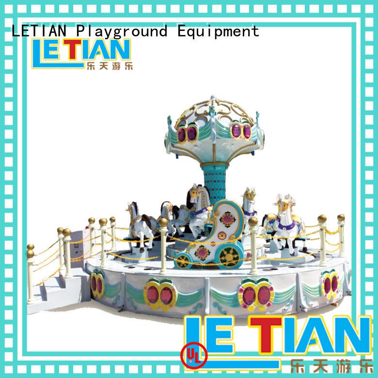 LETIAN New carousel horse customized theme park